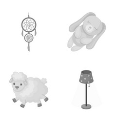 Dream catcher soft toy sheep and rabbit floor vector