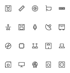 Electronics stroke icons 3 vector