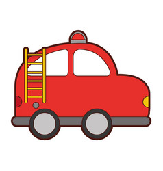 Firefighter car drawing icon vector