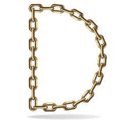 Golden Letter D vector image vector image