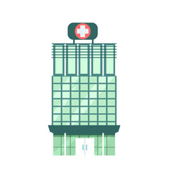 Hospital building isolated icon vector