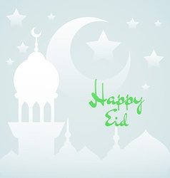Light islamic background with mosque vector