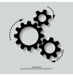 mechanism black white vector image