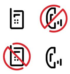 nophones zone vector image