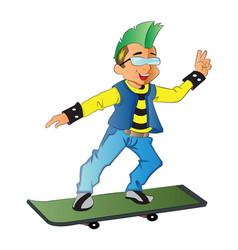 punk on a skateboard vector image