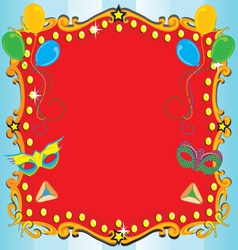 purim carnival party vector image
