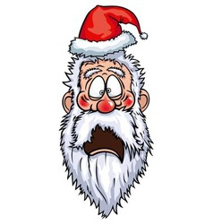 Santa Claus Frightened Head vector image