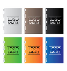 set of coloured notebook isolated on white vector image