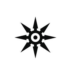 Shuriken black simple icon vector