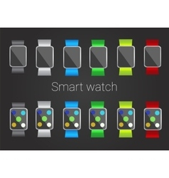 Smart watch set vector