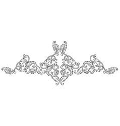 symmetrical decorative ornament vector image vector image