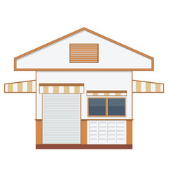 warehouse transportation in flat styleisolated vector image vector image