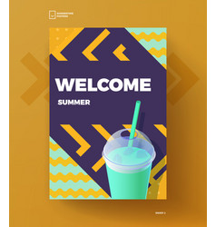 welcome summer poster vector image vector image