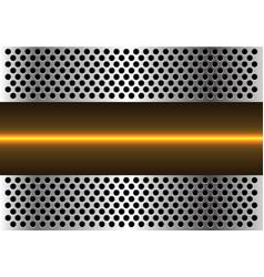 yellow light line technology metal circle vector image