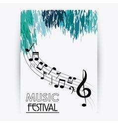 Music note sound media festival icon vector