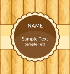 Wooden invitation greeting card vector