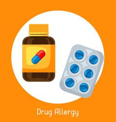 Drug allergy for medical vector