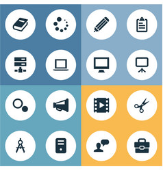 Set of simple icons icons vector
