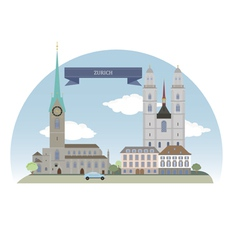 Zurich vector image