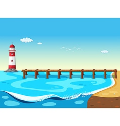 A lighthouse vector