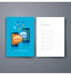 Modern mobile messangers and communications flat vector