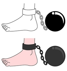 Prisoner ball vector