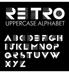 Retro alphabet black vector