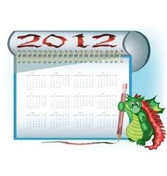dragon 2012 calendar vector image