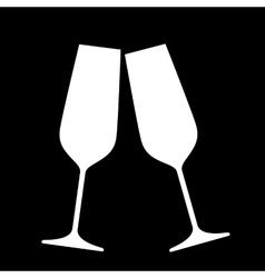 Sparkling champagne glasses vector