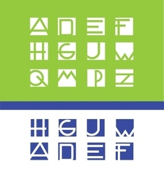 Simple flat letter set alphabet logo icon vector
