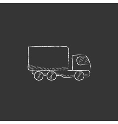 Delivery truck Drawn in chalk icon vector image