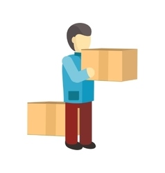 Profession Courier with Box vector image