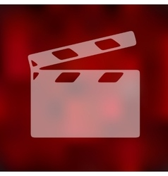 Clapper cinema icon on blurred background vector