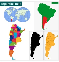 Argentina map vector image