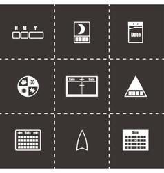Calendar icon set vector image