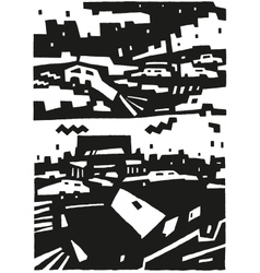 city and cars - abstract background vector image vector image