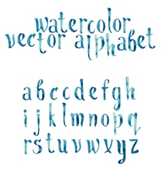 Colorful watercolor aquarelle font type vector image
