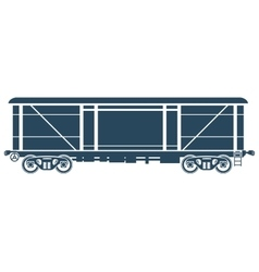Covered Railway freight car - vector image