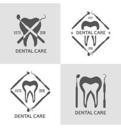Dental logo set vector image vector image