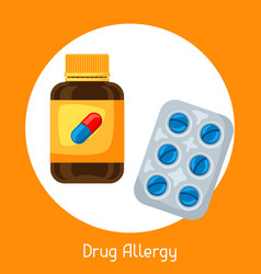 drug allergy for medical vector image vector image