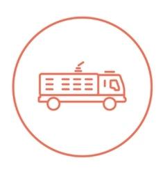 Fire truck line icon vector