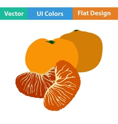 Flat design icon of mandarin vector