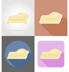 furniture flat icons 31 vector image vector image