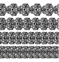 Hand-drawn mehendi ornamental border vector