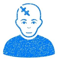 Head hurt grainy texture icon vector