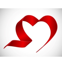 Heart from Red Ribbon vector image