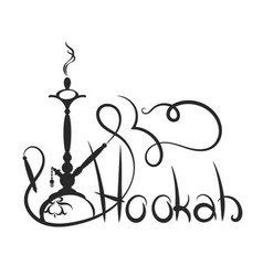 hookah abstract silhouette vector image