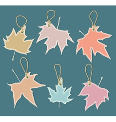 leaves labels vector image vector image