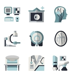 Mri blue and black flat icons vector