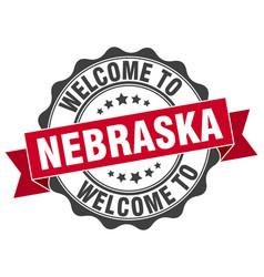 Nebraska round ribbon seal vector
